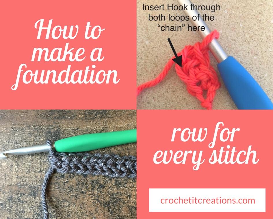Foundation Rows Crochet It Creations