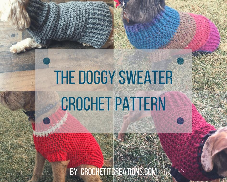 Easy Free Crochet Dog Sweater Pattern In All Sizes By Crochet It