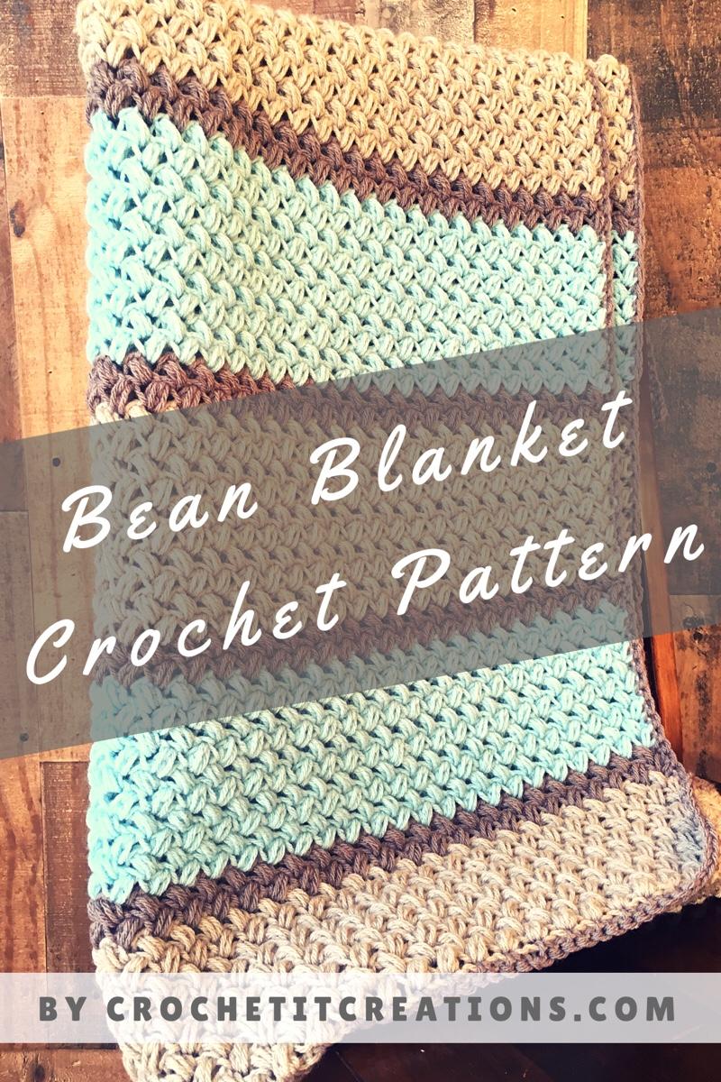 Bean Blanket Crochet Pattern - Crochet it Creations