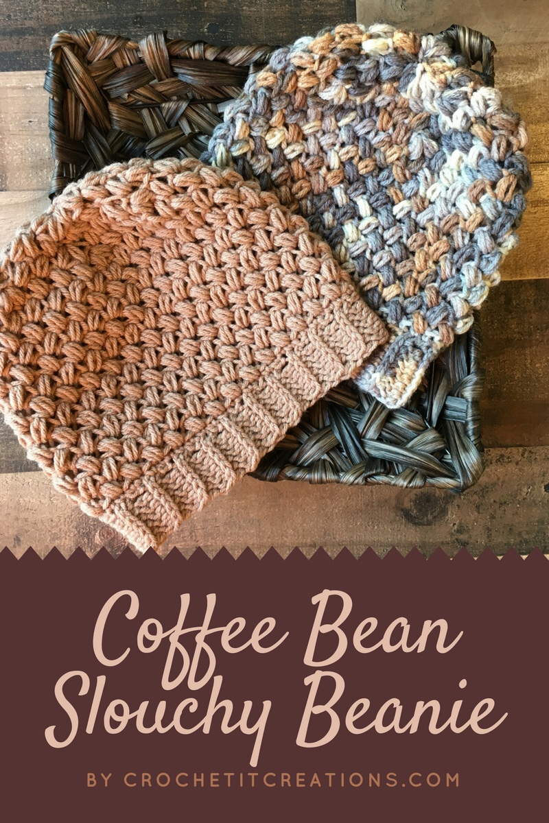 Coffee Bean Slouchy Beanie Crochet Pattern