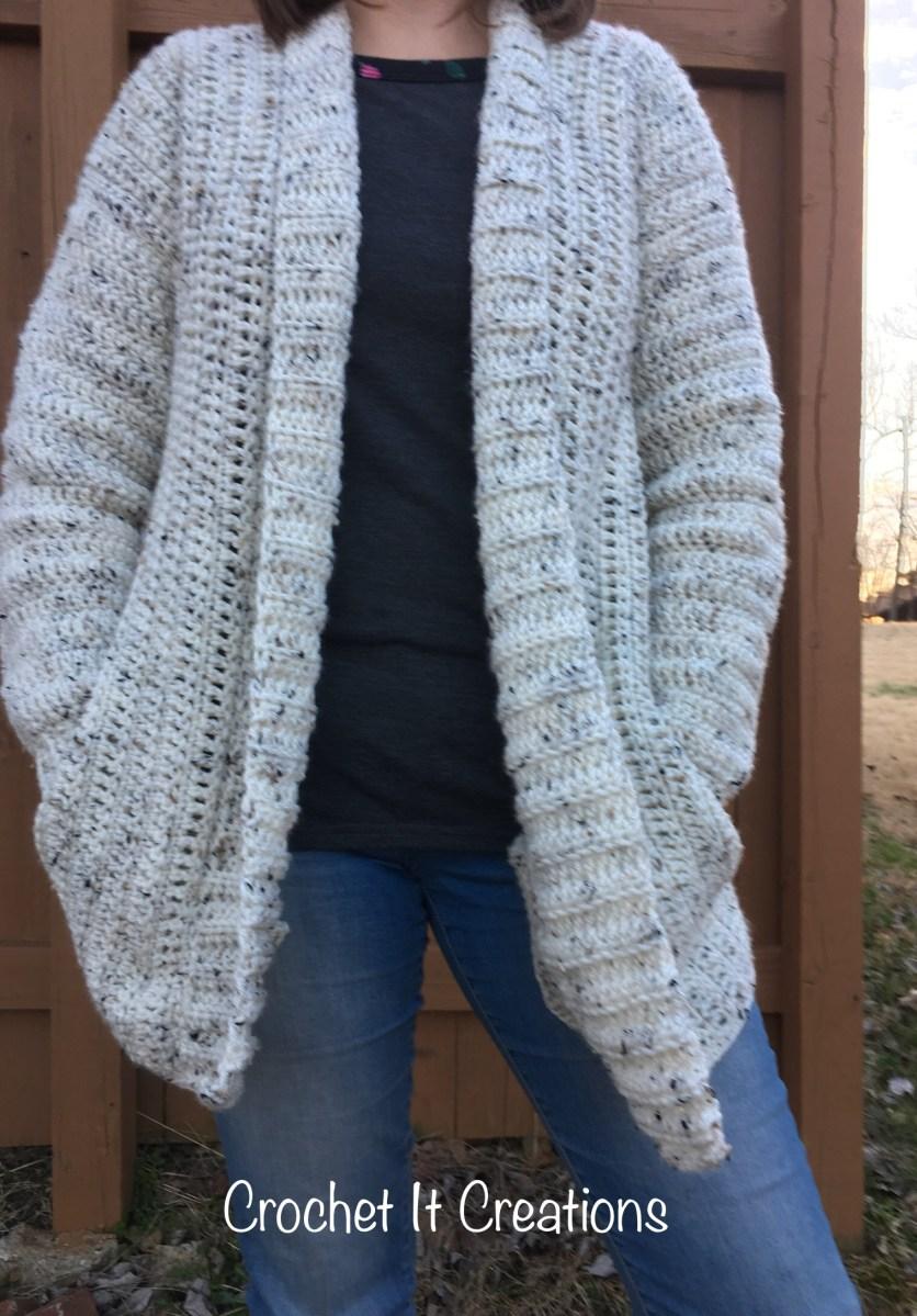 Cameo Cardigan Adult Med/Lg Crochet Pattern