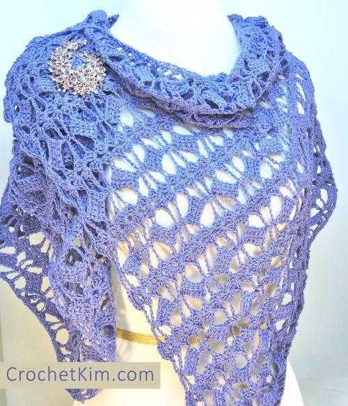 CrochetKim Free Crochet Pattern   Butterfly Fling Shawlette @crochetkim