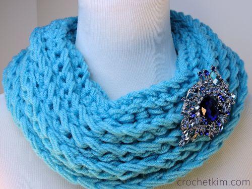 CrochetKim Free Crochet Pattern   Ridgie Cowl @crochetkim