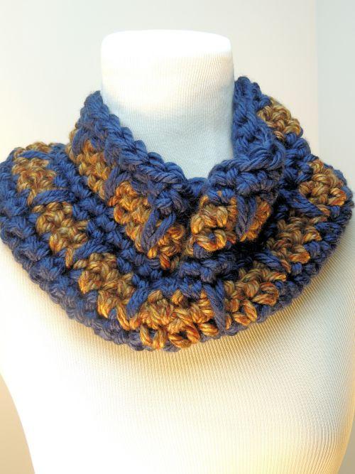 Spike Stitch Cowl Free Crochet Pattern Crochetkim
