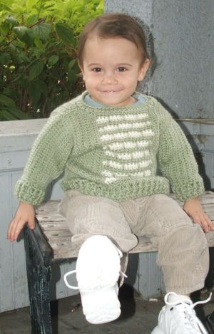 CrochetKim Free Crochet Pattern | Infant Versicolor Pullover @crochetkim