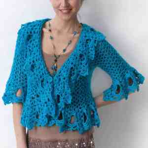 Free Crochet Pattern: Lacy Jacket