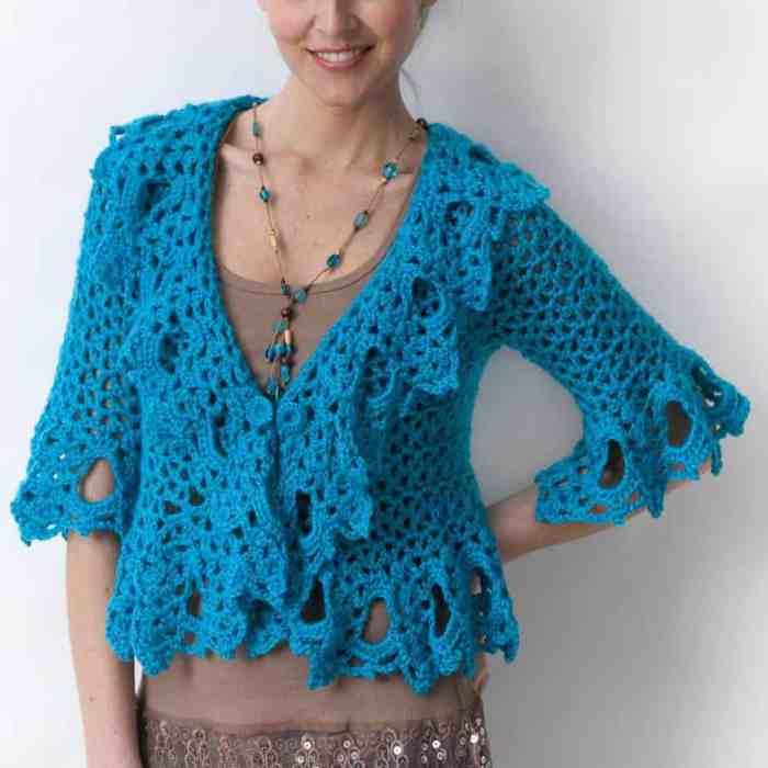 Free Crochet Pattern: Lacy Jacket
