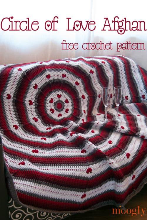 Circle Of Love Afghan Free Crochet Pattern Crochetkim