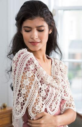 Free Crochet Pattern: Wild Rose Shawl