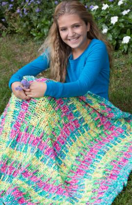Free Crochet Pattern: Squares In Squares Throw