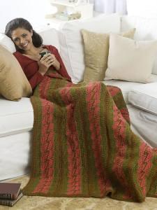 Free Crochet Pattern: Bargello Throw