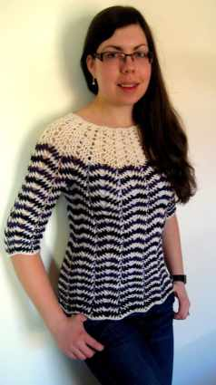 Free Crochet Pattern: Chevron Stripes Sweater