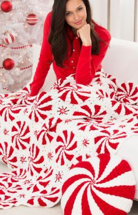 Free Crochet Pattern: Peppermint Throw