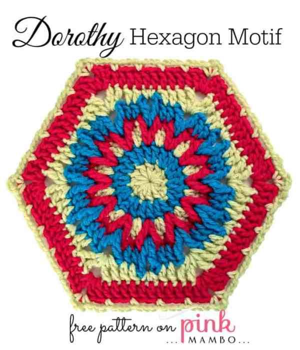 Free Crochet Pattern: Dorothy Hexagon Motif