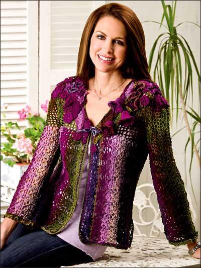 Free Crochet Pattern: Fantasy in Color Jacket