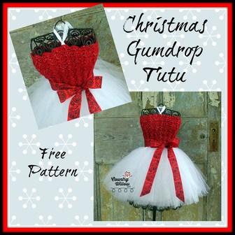 Free Crochet Pattern: Christmas Gumdrop Tutu