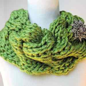 Rippling Waves Cowl CrochetKim Free Tunisian Crochet Pattern
