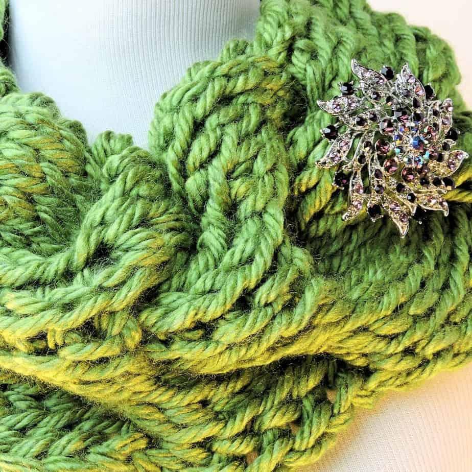 Rippling Waves Cowl CrochetKim Free Tunisian Crochet Pattern