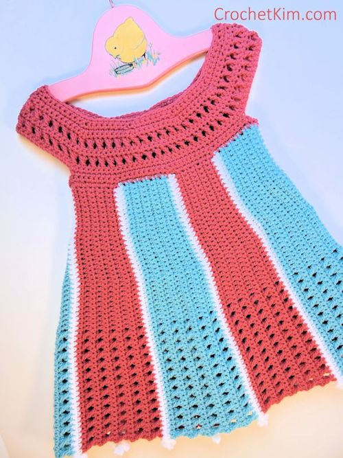 Carousel Baby Dress Free Crochet Pattern Crochetkim