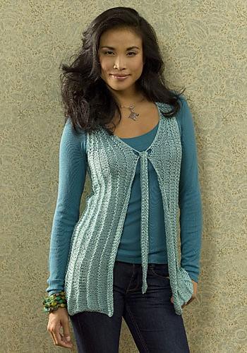 Evian Vest | CrochetKim Free Knit Pattern