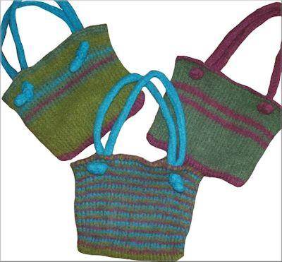 CrochetKim Free Crochet Pattern | Tunisian Easy Felted Bag