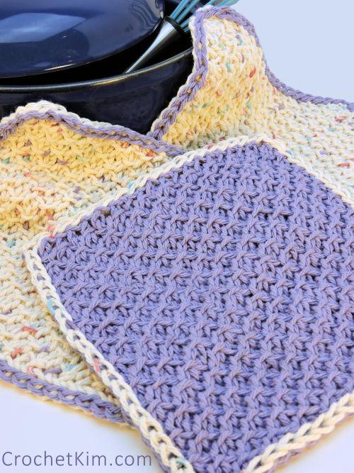 Honeycomb Scrubs Washcloth CrochetKim Free Tunisian Crochet Pattern