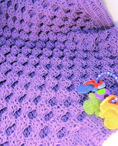 CrochetKim Free Crochet Pattern   Honey Sweet Baby Blanket @crochetkim