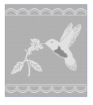 CrochetKim Free Crochet Pattern | Hummingbird Filet Chart @crochetkim
