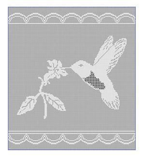 CrochetKim Free Crochet Pattern   Hummingbird Filet Chart @crochetkim