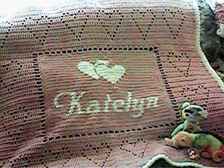 personalized name baby afghan free crochet pattern crochetkim