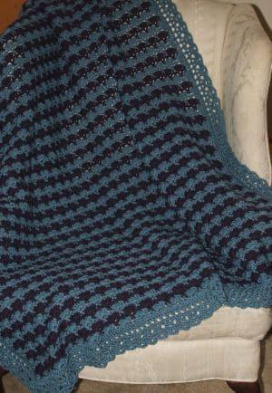 CrochetKim Free Crochet Pattern | Regal Fans Afghan @crochetkim