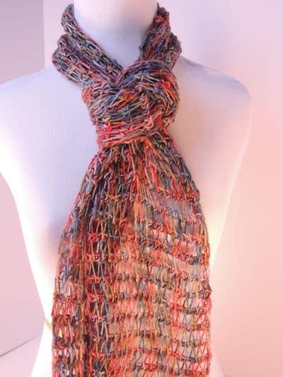 CrochetKim Free Crochet Pattern | Tunisian Drop Stitch Scarf @crochetkim