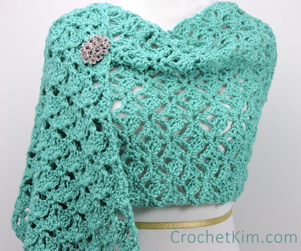 Free Crochet Pattern: Emerald Lace Wrap