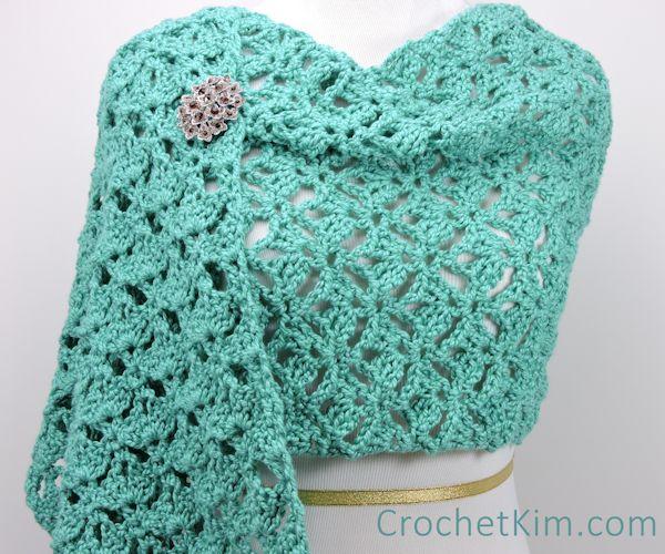 Emerald Lace Fling Wrap Free Crochet Pattern Crochetkim