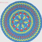 Turquoise Mandala Doily Part 2