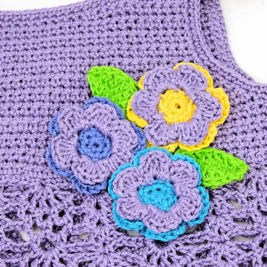 Bouquet Baby Top CrochetKim Free Crochet Pattern