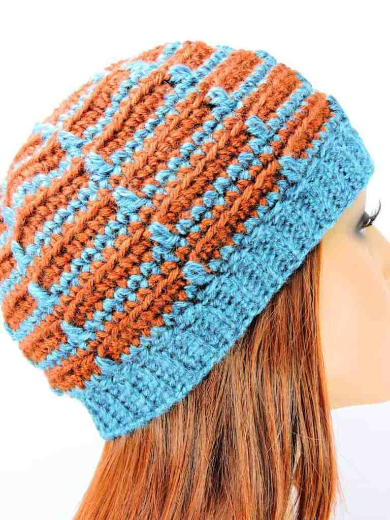 Dashes Beanie Modern CrochetKim Free Crochet Pattern
