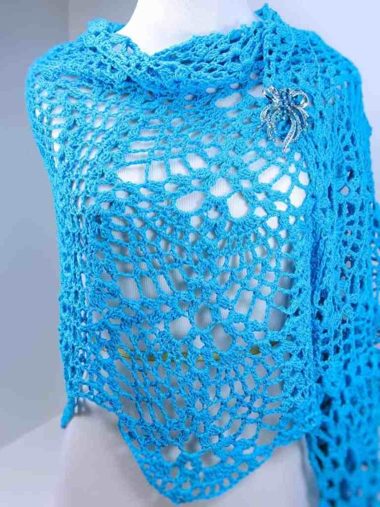 Doubled Pineapples Fling Wrap CrochetKim Free Crochet Pattern