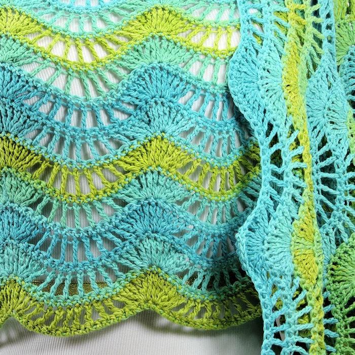 Malibu Feather And Fan Wrap Free Crochet Pattern Crochetkim
