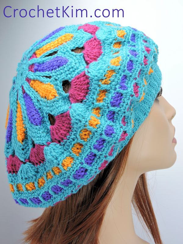 CrochetKim Free Crochet Pattern: Turquoise Mandala Hat