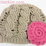 CrochetKim Free Crochet Pattern: Twisty Cabled Beanie