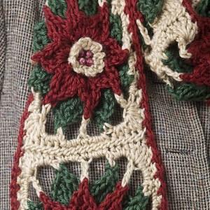 Poinsettia Scarf CrochetKim Free Crochet Pattern