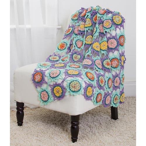 Free Crochet Pattern: Bubble Center Afghan