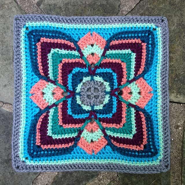 Free Crochet Pattern: Lise Afghan Block