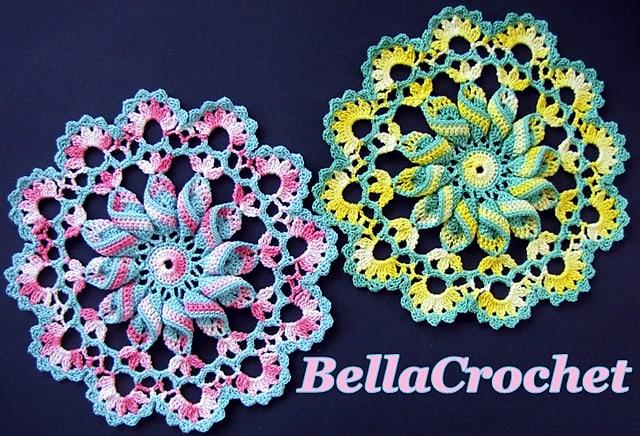 Pretty Pinwheel Doily Free Crochet Pattern Crochetkim