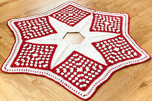 free crochet pattern christmas tree skirt