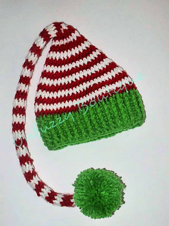 Santas Little Elf Hat Free Crochet Pattern Crochetkim