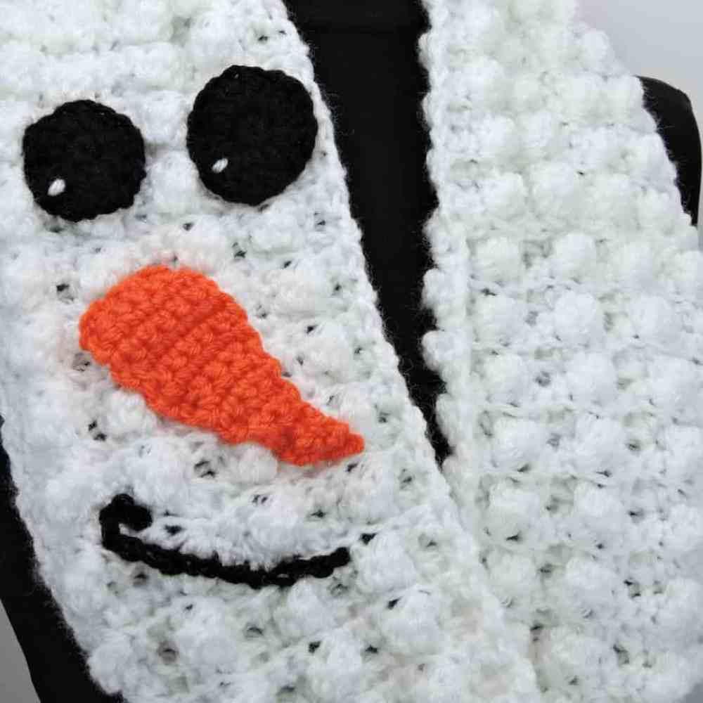 Snowman Infinity Scarf Free Crochet Pattern Crochetkim