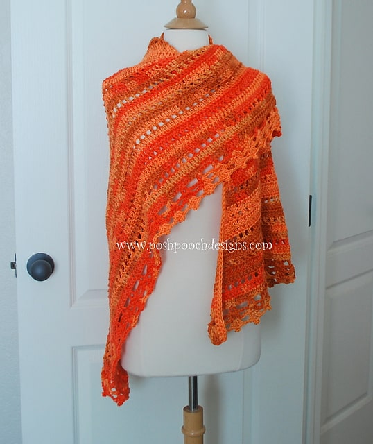 Free Crochet Pattern: Blessings Ombre Shawl