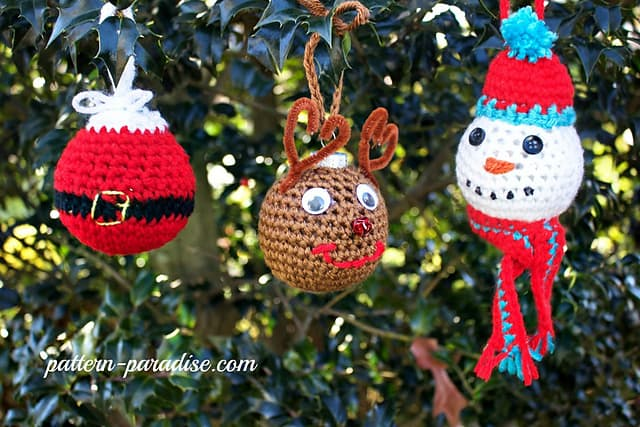 Christmas Tree Ornaments Free Crochet Pattern